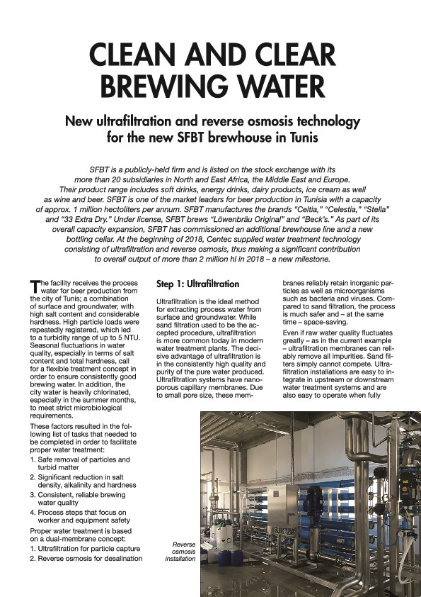 "Article in ""Beer and Beverage Industry"" journal"