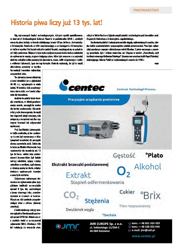 "Centec in ""Fermentation, Fruit and Vegetable Industry"" journal"