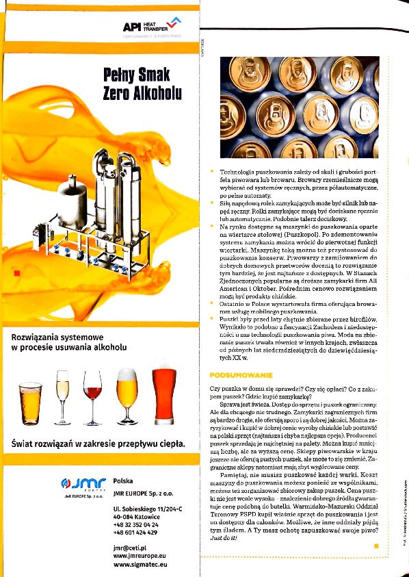 Our advertisements appeared in issue 31 of Piwowar magazine.