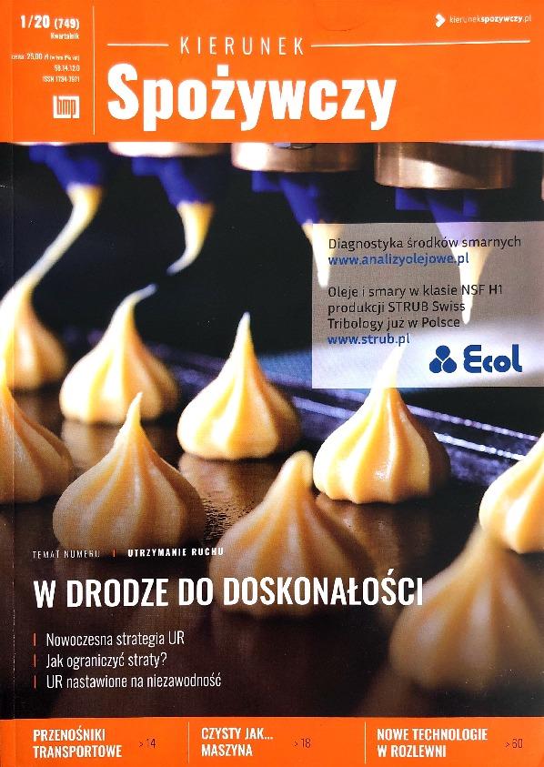 Oferta naszej firmy w czasopiśmie Kierunek Spożywczy Nr 01/2020