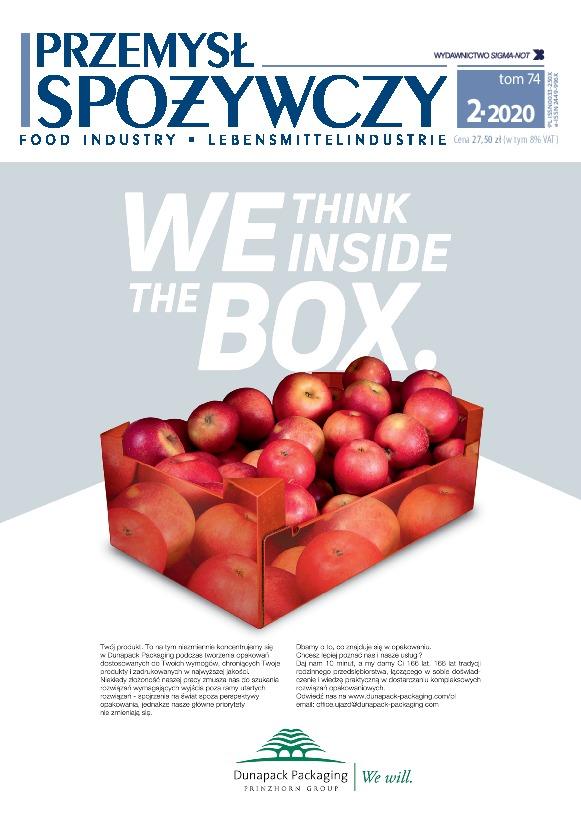Oferta naszej firmy w czasopiśmie Przemysł Spożywczy Nr 02/2020