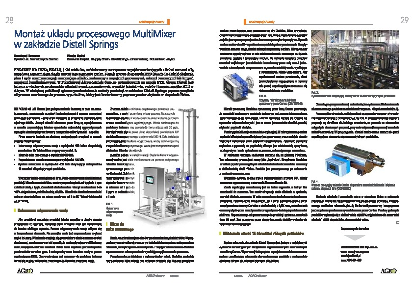 Our article in AgroINDUSTRY Magazine